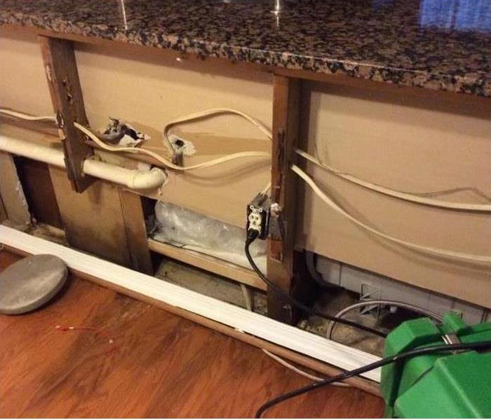 Dishwasher Mold & Water Damage Before