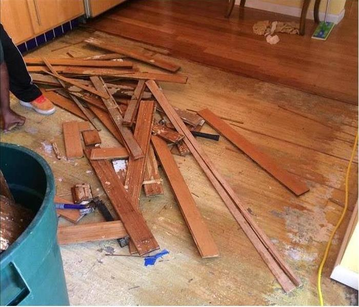 Water Damage to Hardwood Flooring