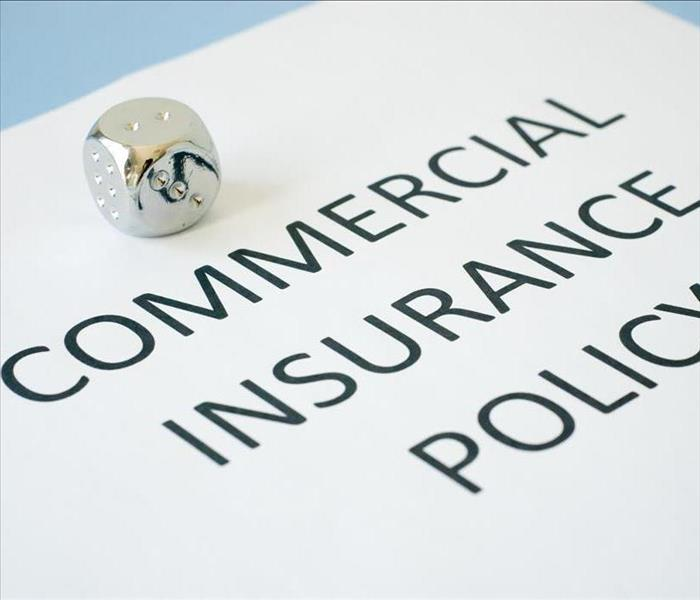 The cover of a commercial insurance policy